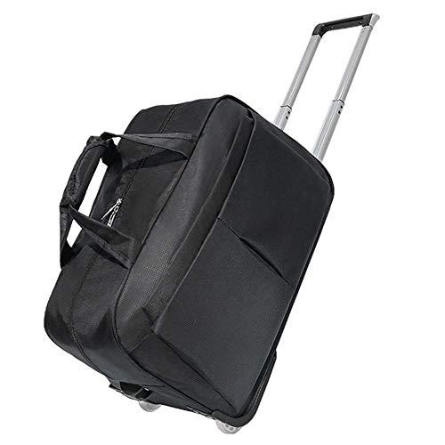 Kylinllx Reisetasche Trolley-Tasche Leichtgewichtler-Trolley - Rollbare Rolltasche Tricolor (Farbe : Schwarz, größe : M)