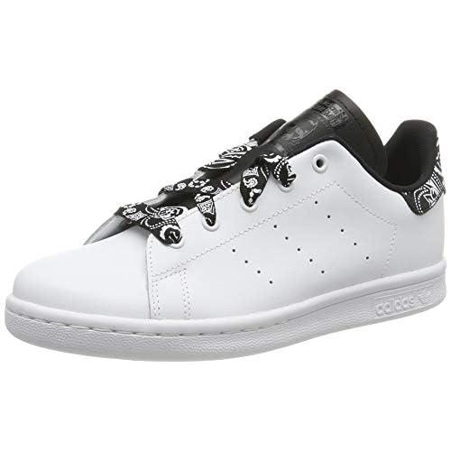 adidas Stan Smith C, Scarpe da Ginnastica Unisex Bambini, Bianco (Ftwr White/Ftwr White/Core Black Ftwr White/Ftwr White/Core Black), 33 EU
