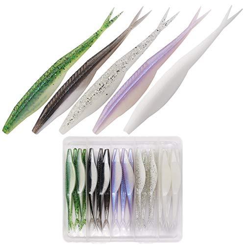 Fluke-Fishing-Lures-Jerk-Shad- Bait Soft Plastic Swimbait for Bass Fishing Pack of 25-30