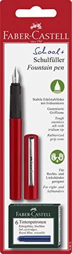 Füllfederhalter-Set für die Schule., 3 items, rot, 1