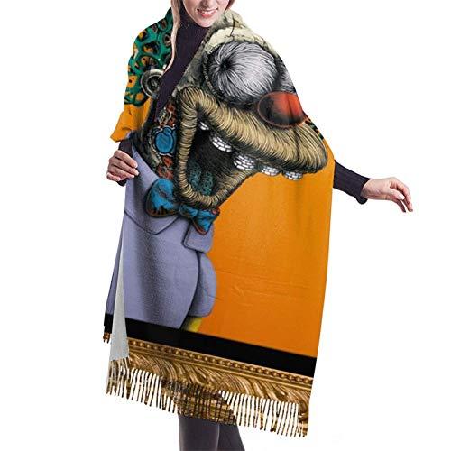 Payaso divertido de Halloween (18) bufanda de mujer Pashmina chales envuelve manta invierno cálido grueso largo bufandas grandes