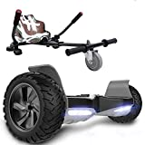 GeekMe Hoverboard Scooter Elettrico autoalimentato da 8,5'' per Tutti i Terreni con Potente Motore Bluetooth + Hoverkart per Overboard