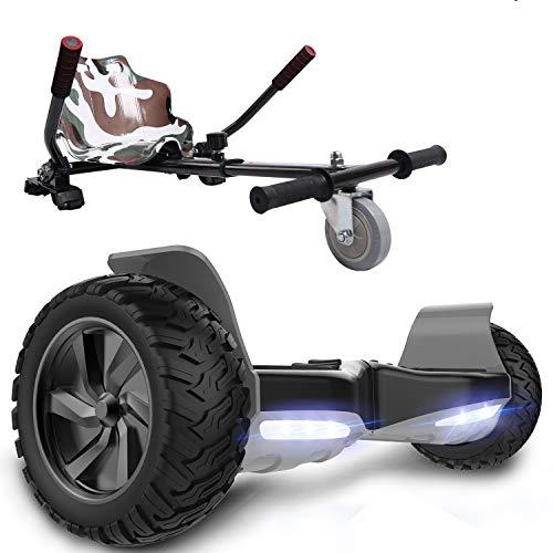 GeekMe Self Balance Scooter 8,5 '' All-Terrain mit leistungsstarkem Motor Bluetooth & APP eingebaut + Hoverkart Zubehör für Elektrisches Scooter