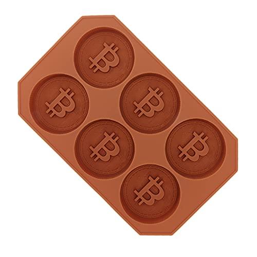 Molde de chocolate Bitcoin, molde para tartas DIY, flexible, resistente a altas temperaturas, conveniente antiadherente para hacer cubitos de hielo, chocolate para la familia