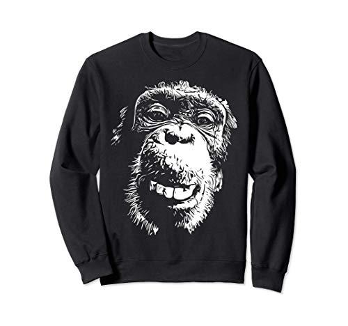 Affe lustiger frecher Schimpanse Natur Tier - Tierliebhaber Sweatshirt