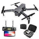 MEIGONGJU GPS d'origine 5.8G 1.5KM Bras Pliable Drone avec 4K UHD Caméra 3 Axes Gimbal RC Drone Quadcopter RTF Haute Vitesse H117S,Drone GPS Handbag