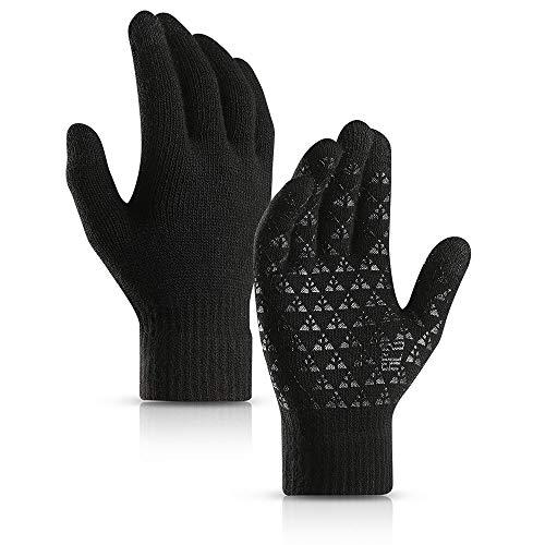 MENGCI Winter Warm Fiets Riding Handschoenen Voor Mannen En Vrouwen Gebreide Antislip Touch Screen Handschoenen Alle Verwijst naar Skiën