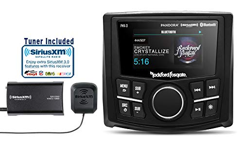 "PMX-3 Punch Marine/Motorsport Compact Digital Media Receiver with 2.7"" Display and a SiriusXM SXV300V1 Tuner Antenna Bundle"