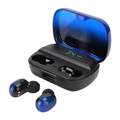 Voluxe Auricular Bluetooth Diseño Profesional Auricular Bluetooth Multifunción Aspecto Exquisito Diseño ergonómico para Oficina Deportiva Escuchar música en casa(Blue)