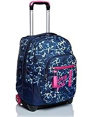 Trolley Seven, Dyed Hearts, Blu, 2 in 1 Zaino con Cross-Over System, Scuola & Viaggio