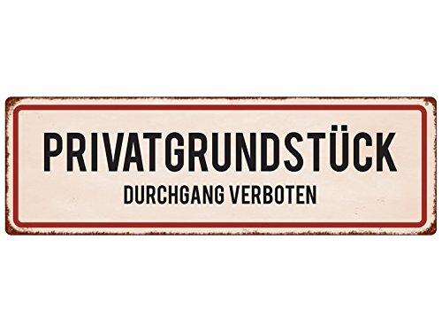 Interluxe metalen bord blikken bord Private GRONSTUCK DOOK VERBODEN waarschuwingsbord aanwijzing