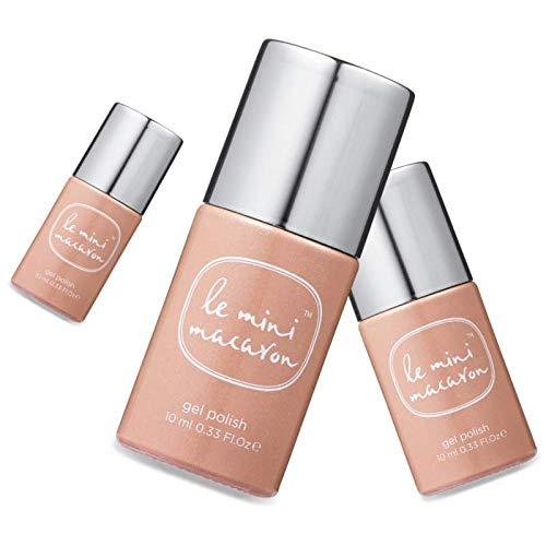 Le Mini Macaron • Vernis à Ongles UV 3 en 1 • Nail Gel Semi-Permanent • Séchage LED • Caramel Couleur Marron Clair • 10ml