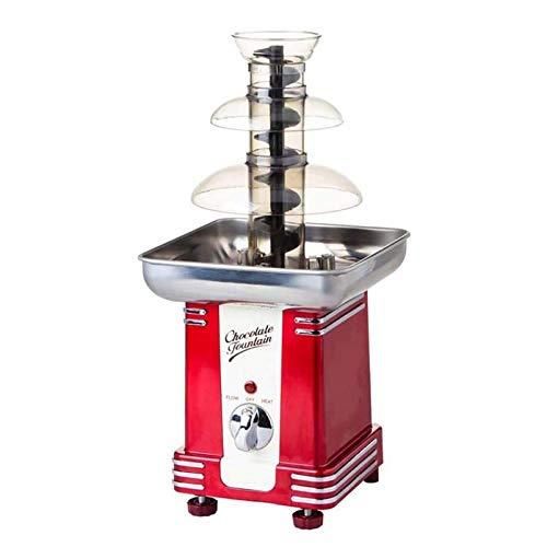 3 Ebenen Schokoladenfondue Großer Brunnen Edelstahl-Buffet-Heizung, Für Gewerbliche & Haushaltsgeburtstag Weihnachten Professionelle Wasserfallschmelzmaschine