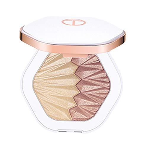 Toygogo Dual-Farben Makeup Highlighter Rouge Palette Gesicht Bronzer Contour Powder, Langlebig & Wasserdicht - 03