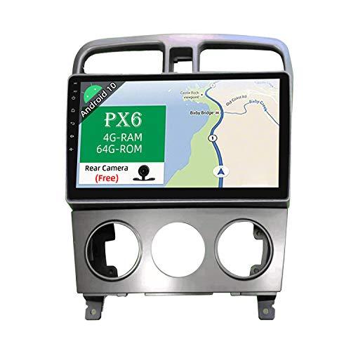 JOYX PX6 Android 10 Autoradio Passt für Subaru Forester (2004-2008) - [4G64G] - Rückfahrkamera KOSTENLOS - GPS 2 Din - Unterstützen DAB Lenkradsteuerung 4G WiFi BT4.0 Carplay Android Auto Mirrorlink