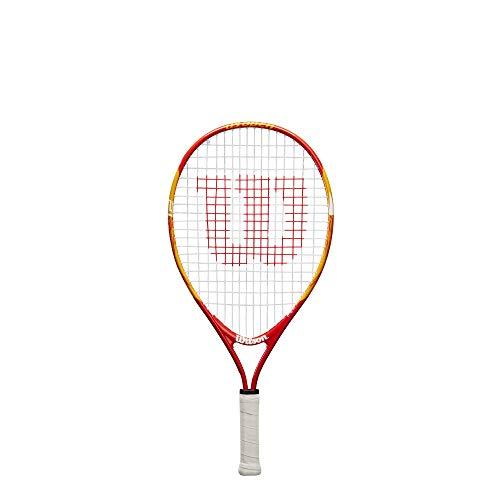 Wilson US Open Racchetta da Tennis, Unisex-Bambini, Rosso/Giallo, 21 Pollici