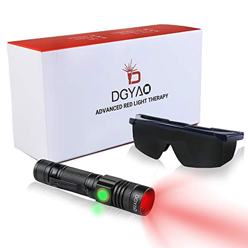 Buy Discount TUOB 660nm LED Red Light Therapy Devices Natural Pain Relief Flashlight for Joint & Mus...