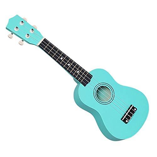 PNLD Professionelle 21 Zoll Kleine Akustik Sopran-Ukulele 21 Zoll Bunte Basswood Ukulele for Anfänger Gitarre Lernenden neu ye (Farbe : Blau, Größe : 21 inches)