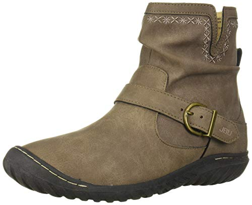 JBU by Jambu Women's Dottie-Water Resistant Ankle Boot, Taupe, 8 M US