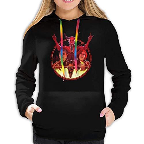 Zikely Tenacious D Hoodie Langarmhemd/Casual Graphics/Ladies Top Black