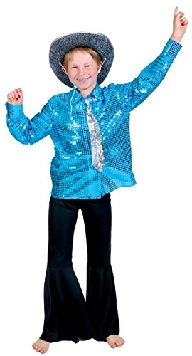 Generique - Chemise Disco Bleue garçon