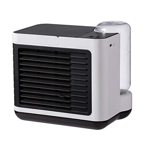 Lucht Conditioner Koeler Ventilator, Mini Bureaublad Verdampend Koelers Luchtreiniger, Draagbaar Lucht Koeling Bevochtiger met USB LED verlichting voor kamer, kantoor, keuken, auto,White