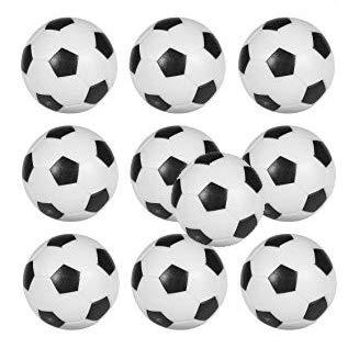 Arcam Bola futbolin Balon 22gr 35mm 10 unid.: Amazon.es: Deportes ...