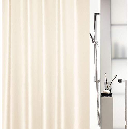 Spirella Kollektion Shine, Duschvorhang Textil 180 x 180 cm, 100prozent Polyester, Beige