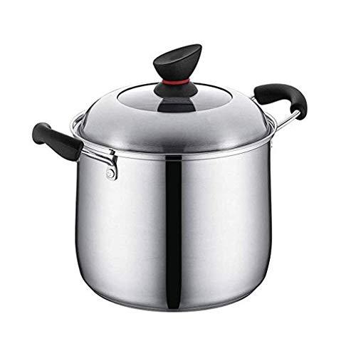Fogón de gas Aplicación sopa de olla de acero inoxidable 304 de gran capacidad de espesamiento Guiso de fideos Gachas Pot hogar lucar (Size : 24cm)