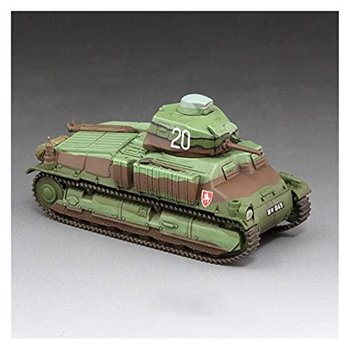 1:72 Vehículo blindado Tierra Modelo Ejército Francés de la Segunda Guerra Mundial SOMUAS-35 Tanque Medio Cuarto Cuirassier Empresa Estática Adornos Militares Producto de simulación Muy Adecuado Niño