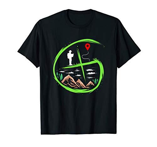 Geocacher Geschenk für Schnitzeljagd Schatzsuche T-Shirt