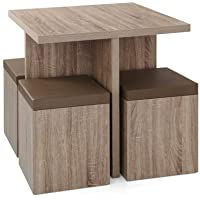 5-Piece Mainstays Dexter Dining Set with Storage Ottoman