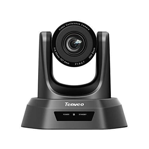 Tenveo NV20U   Konferenzkamera 20x Optischer Zoom 1080P Full-HD, Weitwinkel USB PTZ Webcam mit Fernbedienung, für YouTube/Twitch/OBS Live Streaming, Skype/Zoom Videokonferenzen