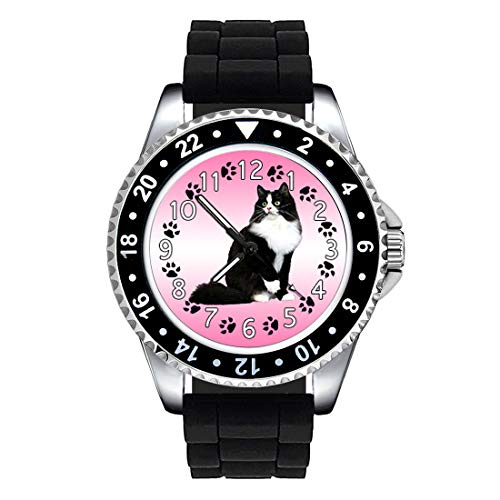 Timest - Gato Ragamuffin - Reloj Unisex con Correa de Silicona Negro SE0230SB