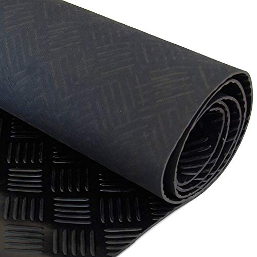 Garage Gummi Checker Plate Bodenbelag 1m x 5m x 3mm