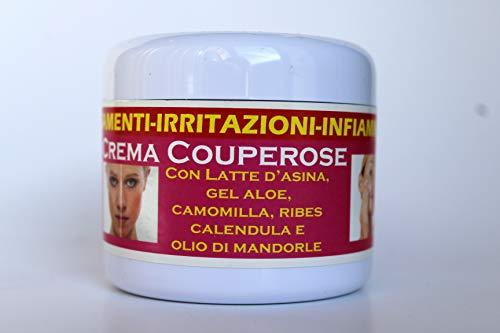 Smcosmetica Crema viso per arrossamenti e irritazioni, con latte d asina, aloe, camomilla, calendula e olio di mandorle, 75 ml