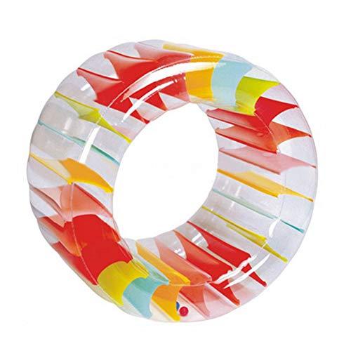 LANBOWO Großes aufblasbares Land-Rad-Partei-Hin- und Herbewegungs-Rad Pool Wasser-Laufrad Hamsterrad Schwimmbad Wasserspielzeug Wasserwalze scherzt Innenaußenpool-Spiel