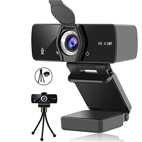 Webcam with Microphone,2K/1440P Web Camera USB Plug and Play,Webcams Built-in Privacy Cover and Tripod,Computer Web Camera Mic Video Cam for Skype Zoom Gaming Conferencing, Mac PC Laptop Desktop