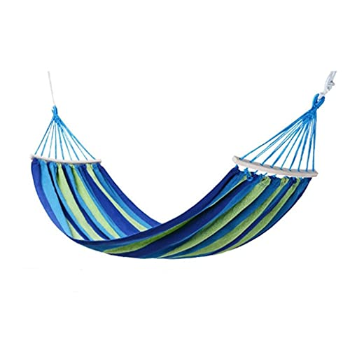 WHL Hamacas Hamaca al Aire Libre portátil Camping Silla de Viaje Rainbow Rayas Rayas de Madera Swing Garden Ocio Hamacas Muebles y Accesorios de Patio (Color : B, tamaño : 190x100cm)