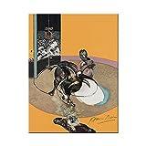 Kemeinuo Cuadros Modernos Francis Bacon Famoso Artista Abstracto Cartel de Corrida de toros e impresión decoración de Arte de Pared 60x90cm