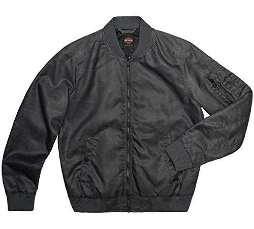 Harley-Davidson Slim Fit Herren Logo Bomberjacke (schwarz) -  Schwarz -  Medium