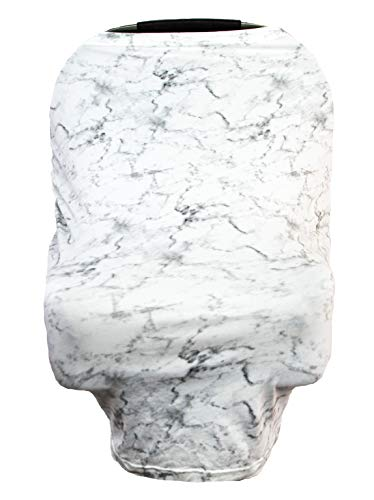 Little Leo Premium Car Seat Covers for Babies That can be Used as a Nursing Cover Up, Stroller Cover, Shopping Cart Cover, High Chair Cover or Swing Cover (Marble Design)