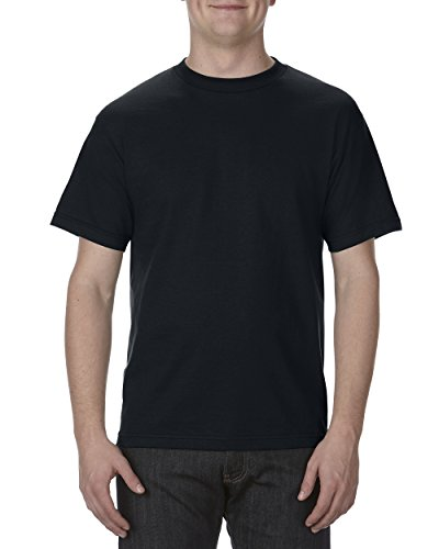 Alstyle Apparel AAA Men's Classic Cotton Short Sleeve T-shirt, Black, Large
