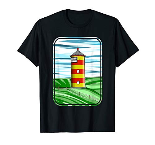 Pilsum Lighthouse Pilsumer Leuchtturm Germany T-Shirt