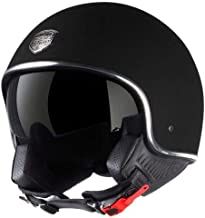 Astone Helmets - Minijet 66 - Casque jet vintage - Casque style rétro US - Casque de moto en polycarbonate - matt black L