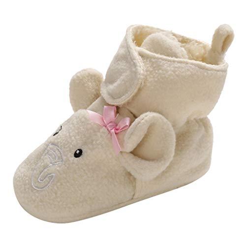 LANSKIRT Zapatos Bebé Primeros Pasos Zapatos de Deporte Antideslizante Tela de Algodón Suela Blanda Primeros Pasos para Bebé Niñas Niño Invierno - Animales