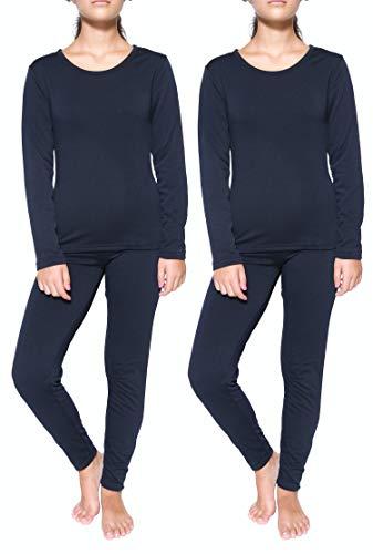 2 Pack: Womens Thermal Underwear Set Thermal Underwear for Women Fleece Lined Legging Long Johns Skiing Apparel-Set 6,XL