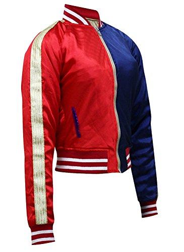 Chaqueta para disfraz Stylowears, Margot Robbie, Harley Quinn en Escuadrón Suicida Red & Blue X-Small