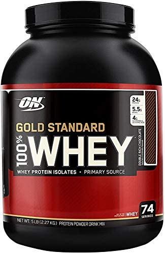 Optimum Nutrition 100 Whey Protein Gold Standard Double Rich Chocolate 5 15 lb product image