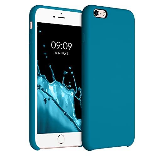 kwmobile Funda Compatible con Apple iPhone 6 Plus / 6S Plus - Funda Carcasa de TPU para móvil - Cover Trasero en Azul océano